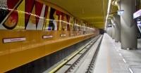 Roboty torowe na II linii metra w Warszawie - stacja Świętokrzyska